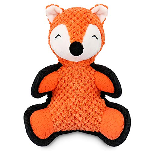 oneisall Dog Plush Toys – Plush Stuffed Dog Toys for Small Medium Large Dogs, Cartoon Animal Fox