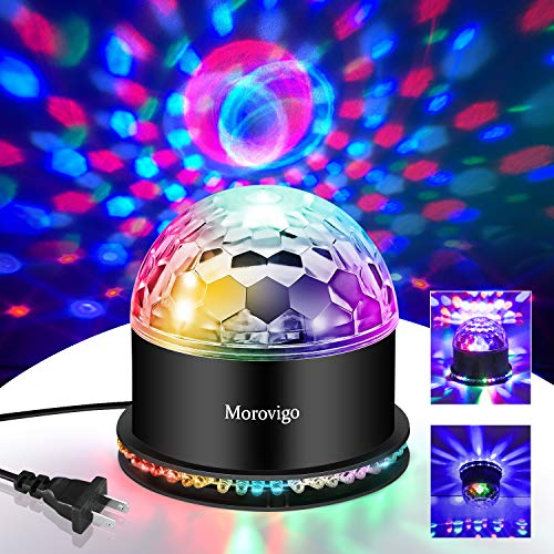 Sound Activated DJ Disco Lights Party Lights Dj Lighting, RBG Disco Ball, Strobe Lamp Stage Par Light for Home Room Dance Parties Birthday DJ Bar Karaoke Xmas Wedding Show Club Pub