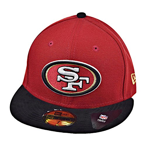 - New Era San Fransisco 49ers Team Suede 59Fifty Men's Fitted Hat Cap Red/Black 80316256 (Size 7 3/8)