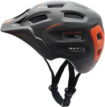 MIAO Casco de bicicleta-Montaña / Carretera Cascos de ventilación auto-formables Equipo de protección de seguridad para deportes al aire libre , black orange /m: Amazon.es: Deportes y aire libre