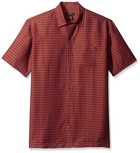 Van+Heusen+Men%27s+Printed+Rayon+Short+Sleeve+Shirt%2C+Rusted+Root%2C+X-Large