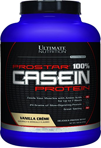 Ultimate Nutrition Prostar Casein, Vanilla Cream, 5 Pound