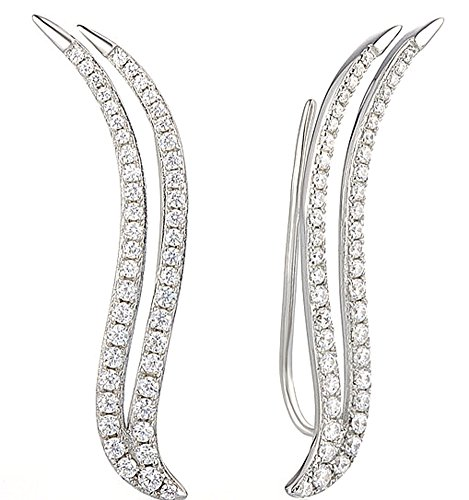 heng-heng-silver-climber-ear-cuff-earrings-for-women-cubic-zirconia