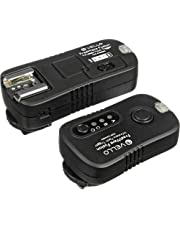 Vello FreeWave Fusion Wireless Flash Trigger & Remote Control for Canon SLR - Canon EOS: Elan series, Digital Rebel (300D), XT (350D), XTi (400D), XSi (450D), T1i (500D), T2i (550D), T3 (1100D), T3i (600D), T4i (650D), T5i (700D), SL1 (100D) and XS (1000D), 60D & 70D 10D, 20D, 30D, 40D, 50D, 5D, 5D Mark II, 5D Mark III, 6D, 7D, 1D, 1D Mark II, 1D Mark II N, 1D Mark III, 1D Mark IV, 1Ds, 1Ds Mark II, 1Ds Mark III, 1D X and 1D C PowerShot G10, G11, G12, G15, G16 & G1 X