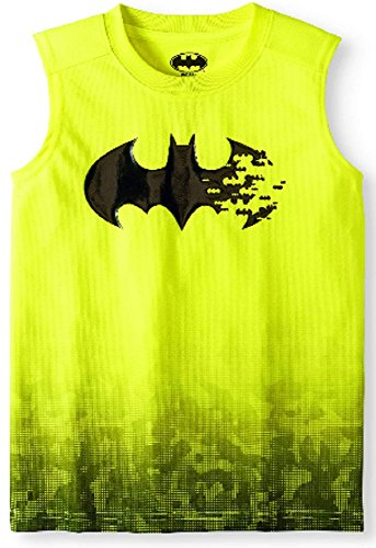 (Fashion Boys Batman Acid Yellow Muscle Tank (Medium 8))