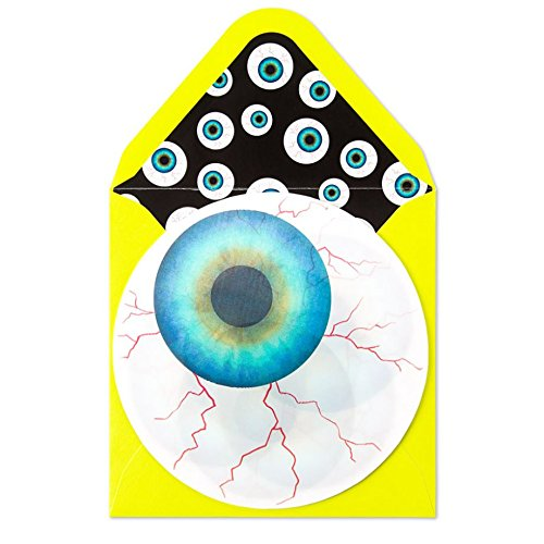 Papyrus Embellished Halloween Card - Lenticular Eyeball - It's Halloween Keep an Eye Out for Treets