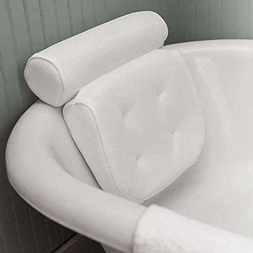 Regun Spa Pilliow Antiscivolo Vasca idromassaggio Bagno Cuscino Ammortizzatore con Supporto Ventose Capo del Collo