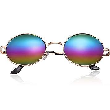 Schimer - Gafas de sol estilo hippie para hombre, estilo retro, con marco de aleación 6pcs