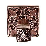 Vicenza Designs PO9013 Fleur de Lis Robe Hook, Large, Antique Copper