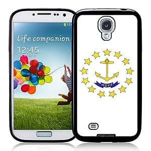 Flag of Rhode Island - Protective Designer BLACK Case - Fits Samsung Galaxy S4 i9500