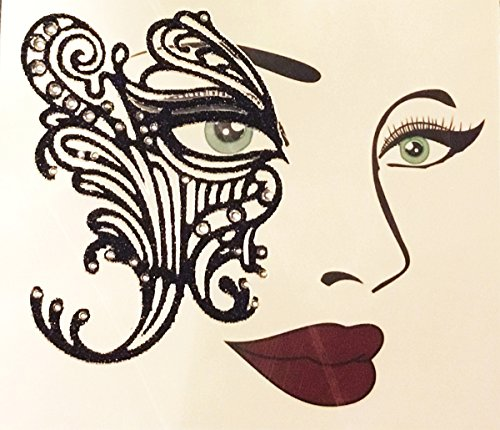 Morris Costumes - Face Decal Eye Lace - -