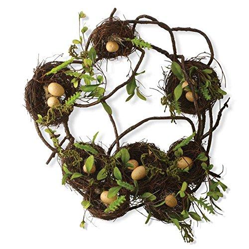 Earthy Branch with Bird Nest Wreath