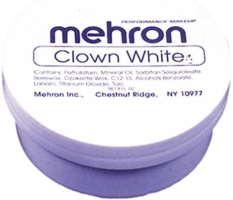 Mehron Makeup Clown White Makeup - 7oz