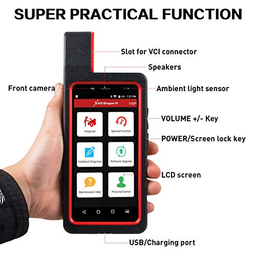 Launch X431 DIAGUN IV Bi-directional Automotive Diagnostic Tool OBD2 Scanner Code Reader with Wifi & Bluetooth Covering 108 Vehicle Makes, 2 Years Free Update by LAUNCH (Image #7)