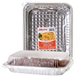"Party & Catering Supplies - Jiffy-Foil Casserole Pans with Lids, 11¾x9⅜"" (Set of 2)"