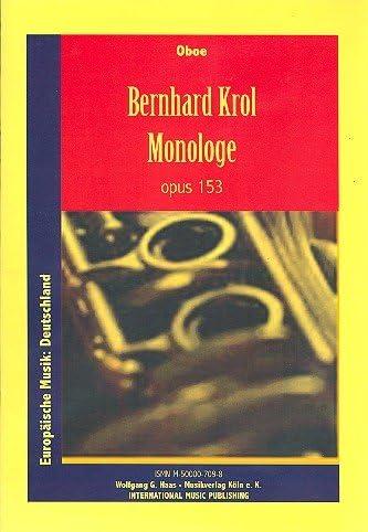 Monólogo opus.153: para oboe: Amazon.es: Instrumentos musicales