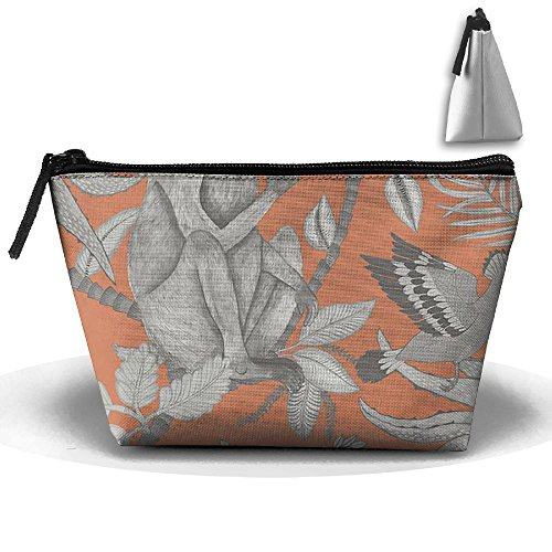 Travel Cosmetic Bags Monkey Lizard and Bird Small Makeup Bag Multifunction Pouch Cosmetic Handbag Toiletries Organizer Bag for Women Girl