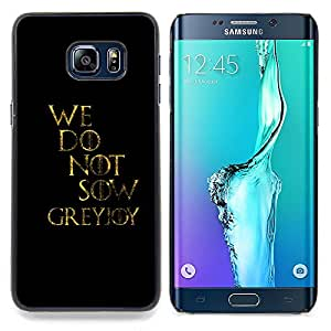 SKCASE Center / Funda Carcasa protectora - No sembramos;;;;;;;; - Samsung Galaxy S6 Edge Plus / S6 Edge+ G928