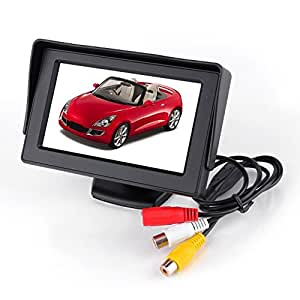 4.3 Inch Display 2 Input TFT Color LCD Car Reverse Rear View Monitor for Rear Camera DVD VCD STB Satellite Receiver
