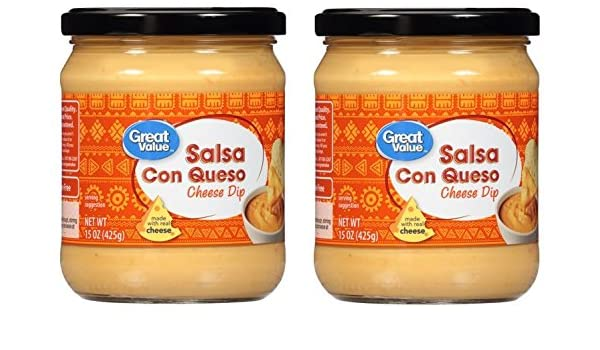 Great Value Salsa Con Queso Cheese Dip, 15 oz (Pack of 2): Amazon.com: Grocery & Gourmet Food