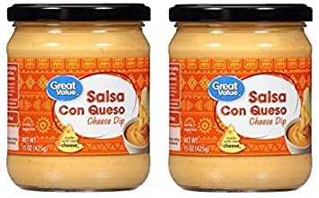 Great Value Salsa Con Queso Cheese Dip, 15 oz (Pack of 2)