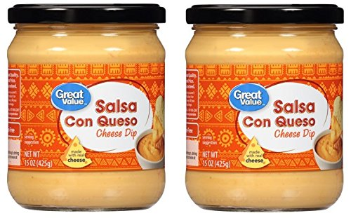 Great Value Salsa Con Queso Cheese Dip, 15 oz (Pack of 2) by Great Value