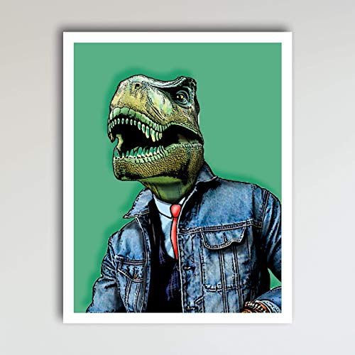 Jaxon the T-Rex Dinosaur Bedroom Decor - Fun and Cute Kids Bedroom Wall Decor - Children's Room & Nursery Prints - Art Print Poster Wall Decor 11x14 inches, Unframed