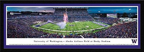 Husky Stadium (Washington Football- 50 Yard  - Blakeway Panoramas College Sports Posters with Select Frame)