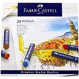 Giz Pastel Oleoso Goldfaber 24 Cores, Faber-Castell