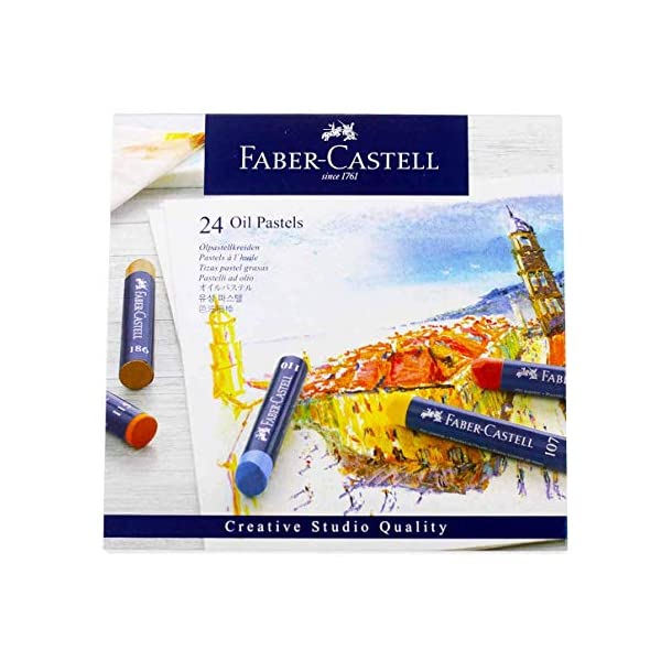 Faber-Castel-FC127024-Creative-Studio-Oil-Pastel-Crayons-24-Pack-Assorted