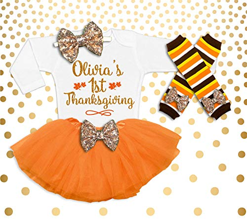 Thanksgiving Outfit Baby Girl Baby Girl Thanksgiving Girl's Thanksgiving Outfit Baby Girl Thanksgiving shirt Personalized