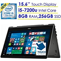Newest Dell Inspiron 7000 2-in-1 15.6 FHD TouchScreen (1920 x 1080) Windows Ink Capable Laptop PC, 7th Gen Intel Core i5-7200U 2.5GHz, 8GB DDR4 SDRAM, 256GB SSD, Intel HD Graphics 620, Windows 10