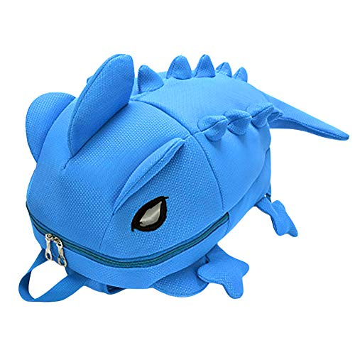 LOCOMO Father Son Mother Daughter Adult Kid Backpack School Bag 3D Dinosaur Dragon Cute Brothers Sisters BPK005BLUL