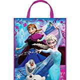 "Package of 12 Large Plastic Disney Frozen Loot Bags, 13"" x 11"""