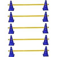 agility sport pour chiens - lot de 5 haies de coordination, jaune-bleu - 10x MZK23b 5x 100y