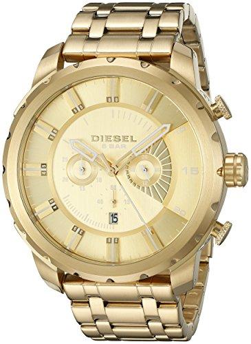 Diesel Men's DZ4376 Stronghold Analog Display Quartz Gold Watch