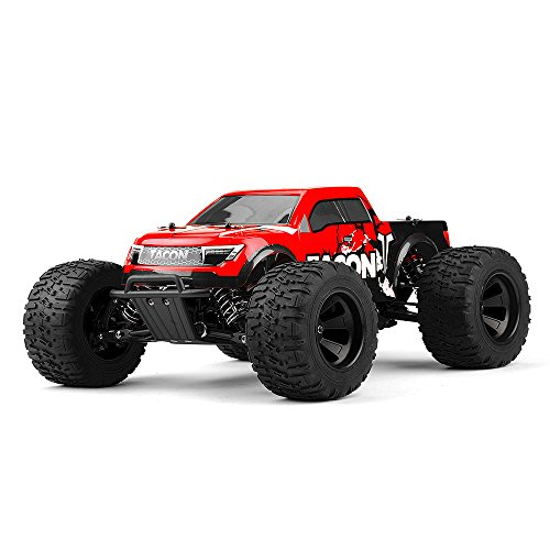 1/14 Tacon Valor Monster Truck Brushless Ready to Run 2.4ghz (Red) RC Remote Control Radio Car