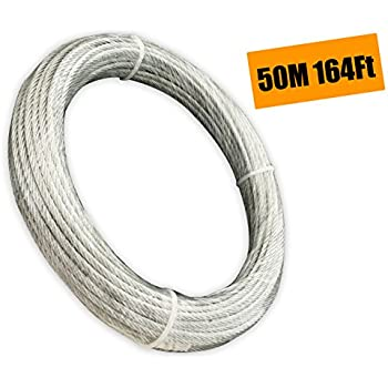 Muzata Galvanized Wire Rope Aircraft Cable For Railing, Decking, DIY ...