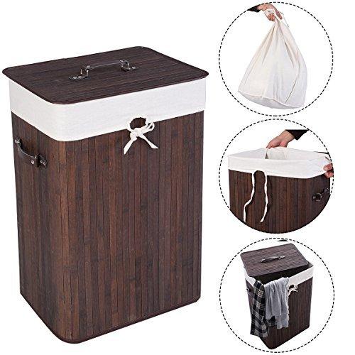 Cesto de bambú para ropa sucia