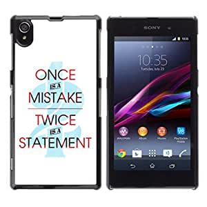 YOYOSHOP [Cool Statement Message] Sony Xperia Z1 L39h Case