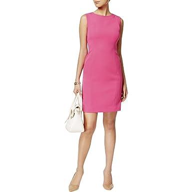 c93275daca9 Kasper Womens Crepe Sleeveless Wear to Work Dress Pink 16  Amazon.co.uk   Clothing