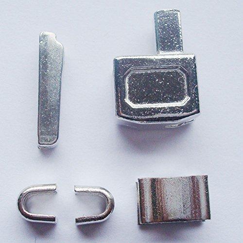 シルバー# 10メタルジッパーヘッドボックスのジッパースライダーRetainer挿入ピン簡単ファスナー修復、ファスナー修理キット #10 ten silver