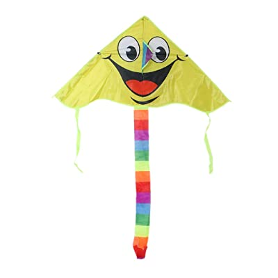 Huilier Cartoon Smiling Face Kite for Kids Outdoor Sports Smiley Animation Flying Kites: Arts, Crafts & Sewing [5Bkhe1107258]
