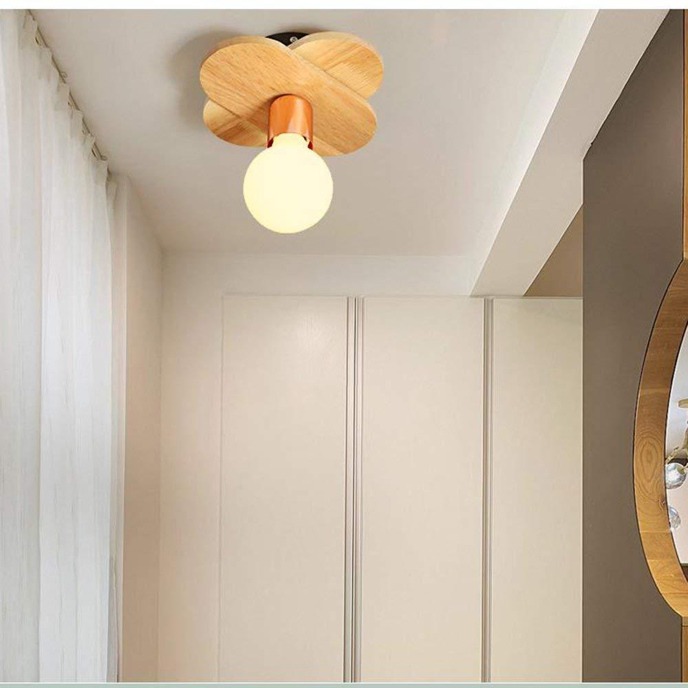 PLLP Living Room Bedroom Corridor Lighting, Household Ceiling Light European Style Modern Led Ceiling Lights Iron Art Solid Wood 1 Holder  5 Holder  7 Holder Lamps Living Room Lights Bedroom Light