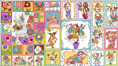 Loralie Designs Blossom Panel:ロラライハリス、お花、パネル