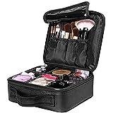 Travel Makeup Case, Cosmetic Organizer Bag Makeup Train Case With Compartment Makeup Bursh Set Storage Bag