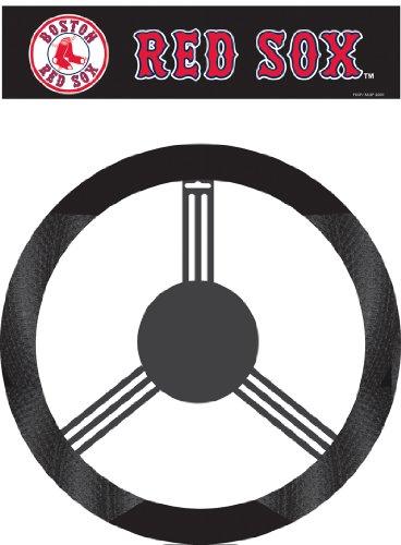 Fremont Die MLB Boston Red Sox Poly-Suede Steering Wheel (Red Sox Steering Wheel Cover)