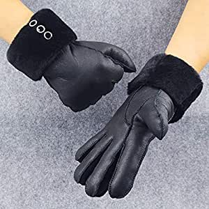 Amazon.com: HeroStore Leather Gloves Genuine Leather Black