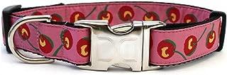 product image for Diva-Dog 'Cherries' Custom Engraved Dog Collar
