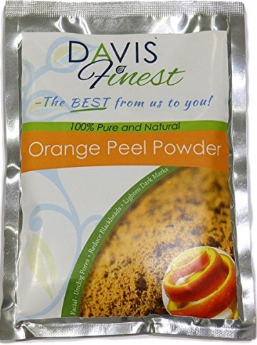 Davis Finest Orange Peel Powder - Pure Natural Face Lightener Brightener...